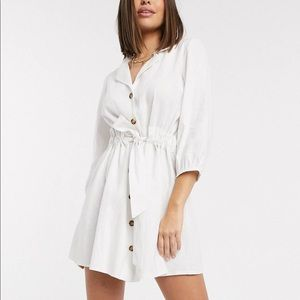 White long sleeve summer dress